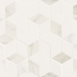Deluxe | White Tessere Rombi | Baldosas de cerámica | Marca Corona