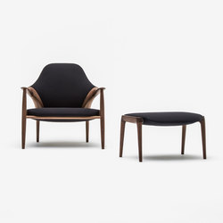 Arm chair + Ottoman | Armchairs | Kunst by Karimoku