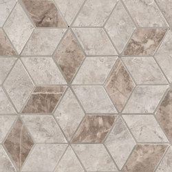 Newluxe Wall | Tessere Rombi Grey | Ceramic tiles | Marca Corona
