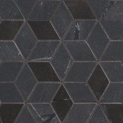 Newluxe Wall | Tessere Rombi Black | Ceramic tiles | Marca Corona