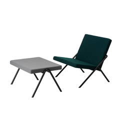 DL2 Euclides Easy Chair + DL6 Plato Ottoman | Poltrone | LOEHR