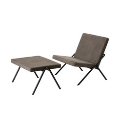 DL2 Euclides Easy Chair + DL6 Plato Ottoman | Sillones | LOEHR