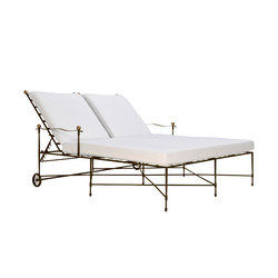 AMALFI DOUBLE CHAISE LOUNGE WITH ARMS | Lettini giardino | JANUS et Cie