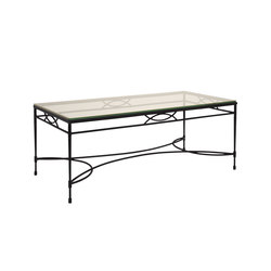 AMALFI GLASS TOP COCKTAIL TABLE RECTANGLE 122 | Coffee tables | JANUS et Cie