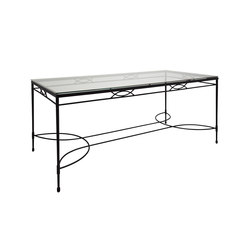 AMALFI GLASS TOP DINING TABLE RECTANGLE 203 | Tavoli pranzo | JANUS et Cie