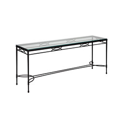AMALFI GLASS TOP SERVING TABLE 183 | Console tables | JANUS et Cie