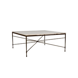 AMALFI STAR STONE TOP COCKTAIL TABLE SQUARE 107 | Tavolini bassi | JANUS et Cie
