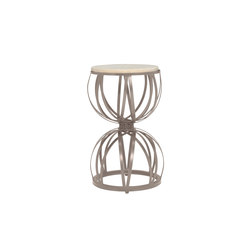 AMALFI STONE TOP HOURGLASS SIDE TABLE 33 | Mesas auxiliares | JANUS et Cie