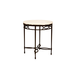 AMALFI STONE TOP SIDE TABLE ROUND 51 | Side tables | JANUS et Cie