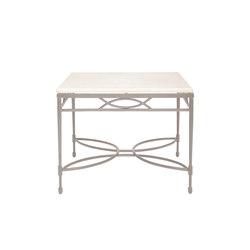 AMALFI STONE TOP SIDE TABLE SQUARE 56 | Tavolini alti | JANUS et Cie