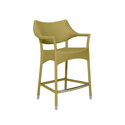 AMARI COUNTER STOOL WITH ARMS | Taburetes de bar | JANUS et Cie