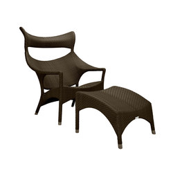 AMARI HIGH BACK LOUNGE CHAIR + OTTOMAN | Poltrone | JANUS et Cie