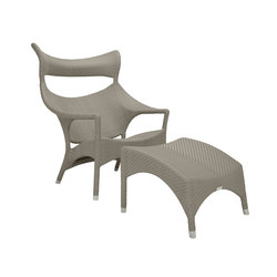 AMARI HIGH BACK LOUNGE CHAIR + OTTOMAN | Armchairs | JANUS et Cie