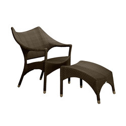 AMARI LOW BACK LOUNGE CHAIR + OTTOMAN | Poltrone | JANUS et Cie