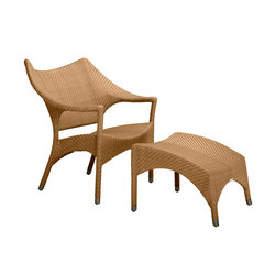 AMARI LOW BACK LOUNGE CHAIR + OTTOMAN | Armchairs | JANUS et Cie