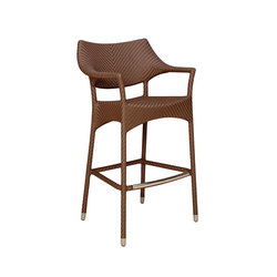 AMARI RATTAN BARSTOOL WITH ARMS | Bar stools | JANUS et Cie