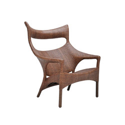 AMARI RATTAN HIGH BACK LOUNGE CHAIR | Poltrone | JANUS et Cie