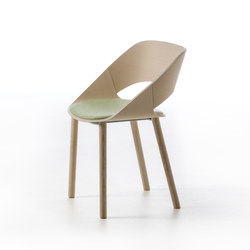 Kabira Wood 4WL | Chairs | Arrmet srl