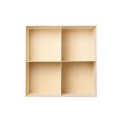 Bookcase Solid Ash Full-Size M30 | Office shelving systems | ATBO Furniture A/S