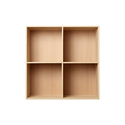 Bookcase Solid Beech Full-Size M30 | Estantería | ATBO Furniture A/S