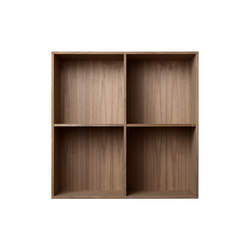Bookcase Solid Walnut Full-Size M30 | Office shelving systems | ATBO Furniture A/S