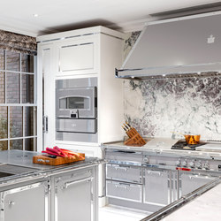 TAILOR MADE KITCHENS | SILVER GREY & POLISHED CHROME KITCHEN | Fitted kitchens | Officine Gullo