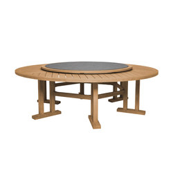 ARBOR DINING TABLE ROUND 239 WITH LAZY SUSAN | Restaurant tables | JANUS et Cie