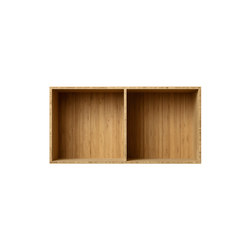 Bookcase Bamboo Half-Size Horizontal M30 | Shelving | ATBO Furniture A/S