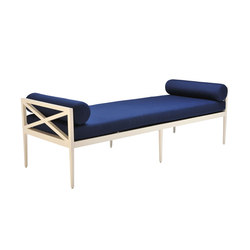 AZIMUTH CROSS BACKLESS BENCH | Garden benches | JANUS et Cie