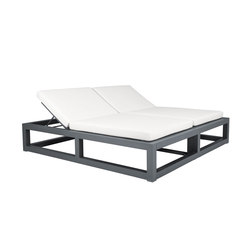 DUO BACKLESS DAYBED SQUARE | Sun loungers | JANUS et Cie