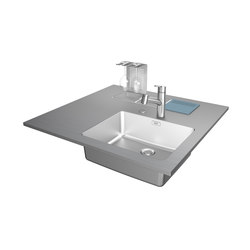 Creative Stainless Steel Worktop Wet Module | Metal panels | Franke Kitchen Systems
