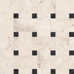 Newluxe Floor | Tessera Treccia Reflex Ivory | Ceramic tiles | Marca Corona