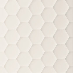4D | Hexagon White Dek | Ceramic tiles | Marca Corona
