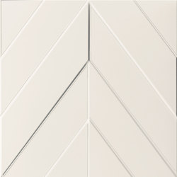 4D | Chevron White Dek | Ceramic tiles | Marca Corona