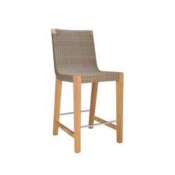 QUINTA TEAK / WOVEN COUNTER STOOL | Bar stools | JANUS et Cie