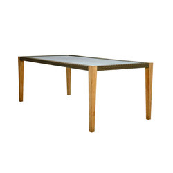 QUINTA TEAK / WOVEN DINING TABLE RECTANGLE 200 | Dining tables | JANUS et Cie