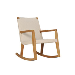 QUINTA TEAK / WOVEN ROCKING CHAIR | Armchairs | JANUS et Cie