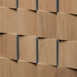 Essences | Walnut Mosaic 3D | Ceramic tiles | Marca Corona