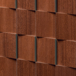 Essences | Mahogany Mosaic 3D | Ceramic tiles | Marca Corona