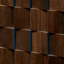 Essences | Iroko Mosaic 3D | Ceramic tiles | Marca Corona