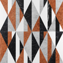 Opus | Tangram memphis | Natural stone panels | Lithos Design