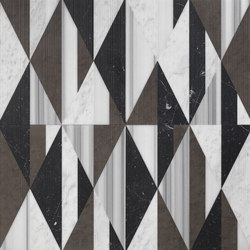 Opus | Tangram smoking | Natural stone panels | Lithos Design