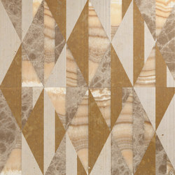 Opus | Tangram zafferano | Natural stone panels | Lithos Design