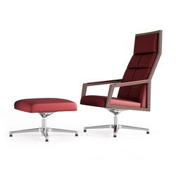 Square Lounge Chair + Ottoman | Loungesessel | Ofifran