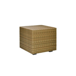 SEE! RATTAN CLOSED CUBE SIDE TABLE 48 | Tavolini alti | JANUS et Cie