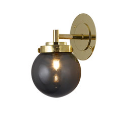 Mini Globe Wall Light, Anthracite with Brass | Iluminación general | Original BTC