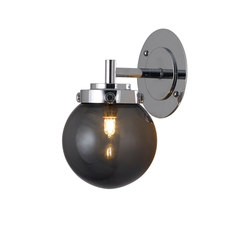 Mini Globe Wall Light, Anthracite with Chrome | Wall lights | Original BTC