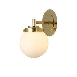 Mini Globe Wall Light, Opal with Brass | Wall lights | Original BTC
