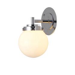 Mini Globe Wall Light, Opal with Chrome | Wall lights | Original BTC