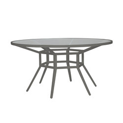 SLANT GLASS TOP DINING TABLE ROUND 153 | Tavoli ristorante | JANUS et Cie
